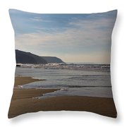 Porthtowan Cornwall Throw Pillow