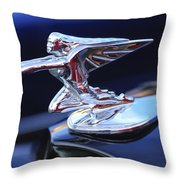 1935 Packard Hood Ornament Throw Pillow