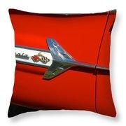 1960 Chevy Impala Convertable Throw Pillow