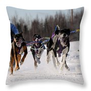 2011 Limited North American Sled Dog Race Throw Pillow