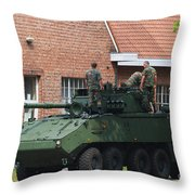 A Belgian Army Piranha IIic Throw Pillow