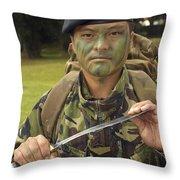 A British Army Gurkha Throw Pillow