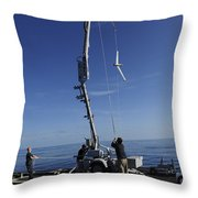 A Scan Eagle Unmanned Aerial Vehicle Throw Pillow