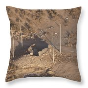 Aerial View Of A Destroyed Iraqi Throw Pillow