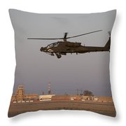 An Ah-64d Apache Longbow Block IIi Throw Pillow by Terry Moore