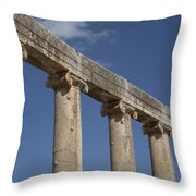 An Close View Of The Oval Plaza Throw Pillow