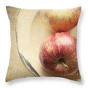 3 Apples Throw Pillow