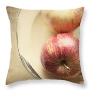 3 Apples Throw Pillow
