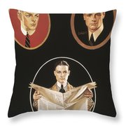 Arrow Shirt Collar Ad Throw Pillow