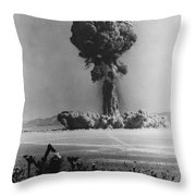 Atomic Bomb Explosion Throw Pillow