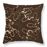 Baculites Fossil Throw Pillow