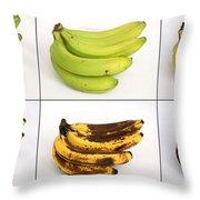 Banana Ripening Sequence Throw Pillow