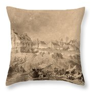 Battle Of Fredericksburg Throw Pillow