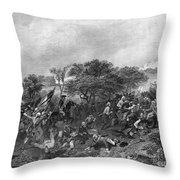 Battle Of Monmouth, 1778 Throw Pillow
