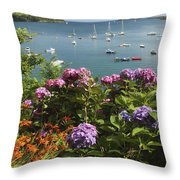 Bay Beside Glandore Village In West Throw Pillow