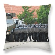 Belgian Infantry Soldiers Training Throw Pillow