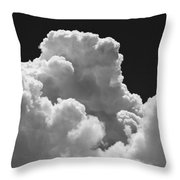 Black And White Sky With Building Storm Clouds Fine Art Print Throw Pillow