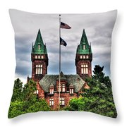 Buffalo Psychiatric Center Throw Pillow