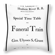 Burial Of Ulysses S. Grant Throw Pillow