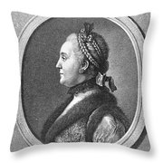 Catherine II (1729-1796) Throw Pillow