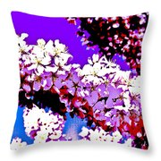 Cherry Blossom Art Throw Pillow