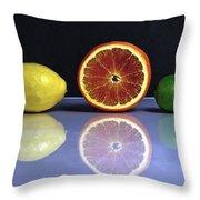 Citrus Fruits Throw Pillow by Joana Kruse