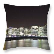 City Hall And Hms Belfast Throw Pillow