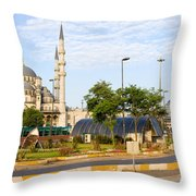 City Of Istanbul Throw Pillow