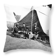 Civil War: Union Soldiers Throw Pillow