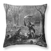 Civil War: Wounded Throw Pillow