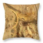 Clockwork Mechanism Throw Pillow