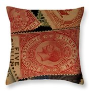 Closeup Of Classic British Empire Throw Pillow