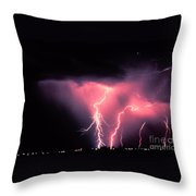 Cloud-to-ground Lightning Throw Pillow