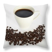 Coffee Throw Pillow by Photo Researchers, Inc.