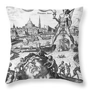 Colossus Of Rhodes Throw Pillow