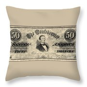Confederate Banknote Throw Pillow