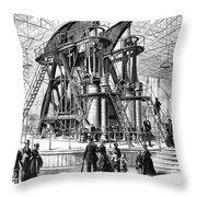 Corliss Steam Engine, 1876 Throw Pillow