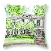 Custom House Rendering Throw Pillow