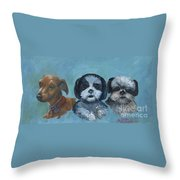 3 Dog Night Throw Pillow