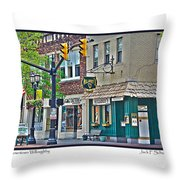 Downtown Willoughby Throw Pillow