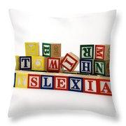 Dyslexia Throw Pillow