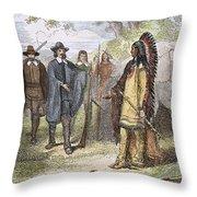 Edward Winslow (1595-1655) Throw Pillow