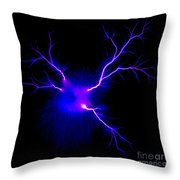 Electric Spark Throw Pillow