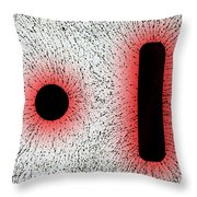 Electrostatic Field Lines Like Charges Throw Pillow
