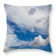 English Summer Sky Throw Pillow
