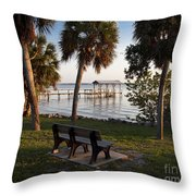 Evening On The Indian River Lagoon Throw Pillow