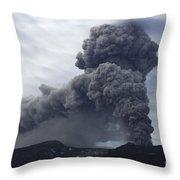 Eyjafjallajökull Eruption, Iceland Throw Pillow