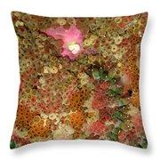 Fluorescent Sea Anemone Throw Pillow