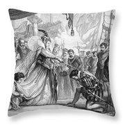 Francis Drake (1540?-1596) Throw Pillow