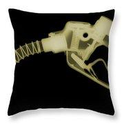 Gas Nozzle, X-ray Throw Pillow